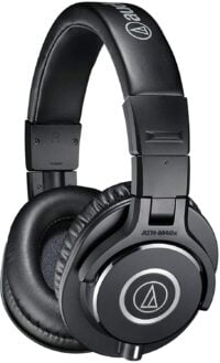 Audio-Technica ATH-M40X Professional Studio Monitor Over-ear Headphones, 40mm drivers