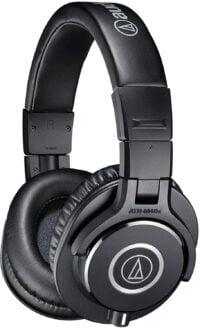 Audio-Technica ATH-M40X Professional Studio Monitor Over-ear Headphones, 40mm drivers