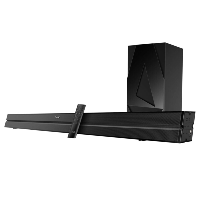 boAt AAVANTE Bar 2050 160W 2.1 Channel Bluetooth Soundbar with boAt Signature Sound, Wireless Subwoofer, Multiple Connectivity Modes, Entertainment Modes, Bluetooth V5.0