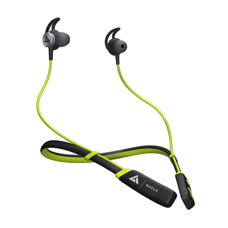 Boult Audio ProBass CurvePro Neckband in-Ear Wireless Earphones, IPX5 Sweatproof Headphones in-Built Microphone, 10mm driver
