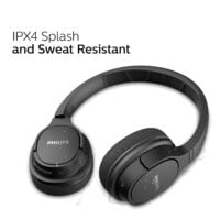 Philips ActionFit TASH402BK Bluetooth On-Ear Sports Headphones, 20 Hour Play Time, 40 mm Drivers