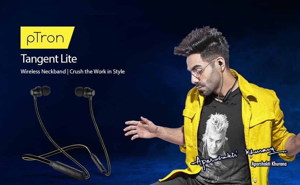 pTron Tangent Lite Magnetic in-Ear Wireless Bluetooth Headphones