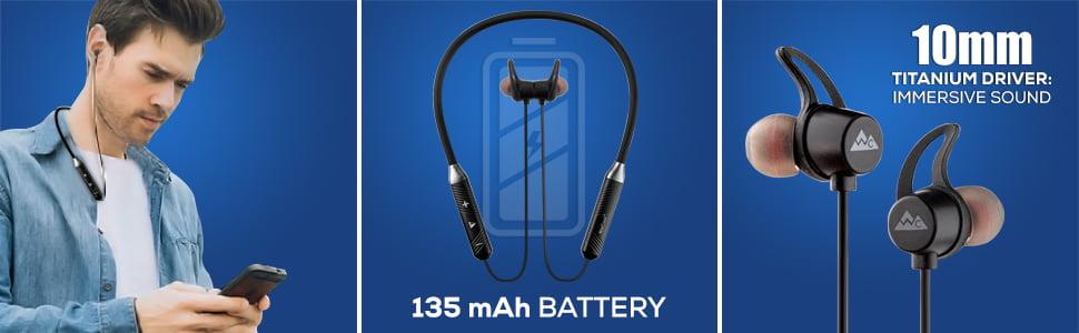 neckband earphone with mic