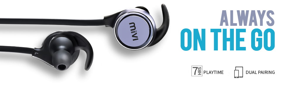 Bluetooth wireless earphone with microphone for mobile, tablet and laptop