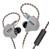 CCA C10 Hybrid in-Ear Earphones, 4BA+1DD HiFi Stereo Deep Bass Noise Isolating Sport IEM Wired, 10mm Drivers