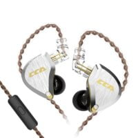CCA C12 in-Ear Monitors, 5BA+1DD Hybrid HiFi Stereo Noise Isolating IEM Wired Earphones, 10mm Drivers