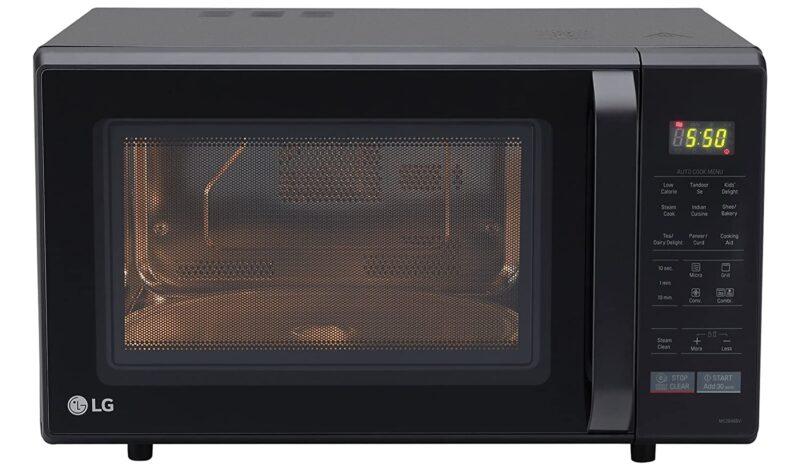 LG 28 L Convection Microwave Oven (MC2846BV, Black)