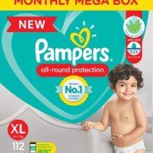 Pampers Diaper Pants, Extra Large size (12-17 kg), 112 Pcs Box