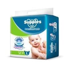 Supples Baby Pants Diapers, Large (9-14 kg), 62 Pcs Box
